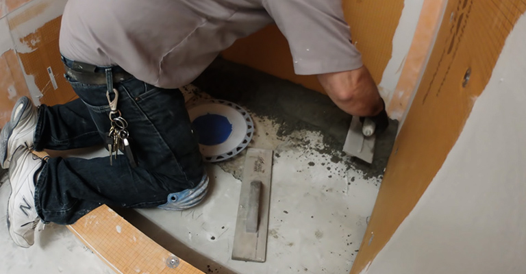 How to Build a Concrete Shower Pan