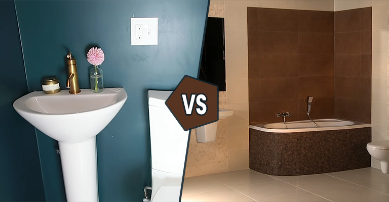 Full Bathroom Vs Half Bathroom