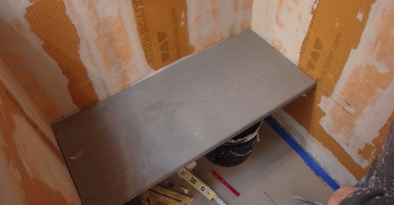 How to Build a Floating Shower Bench