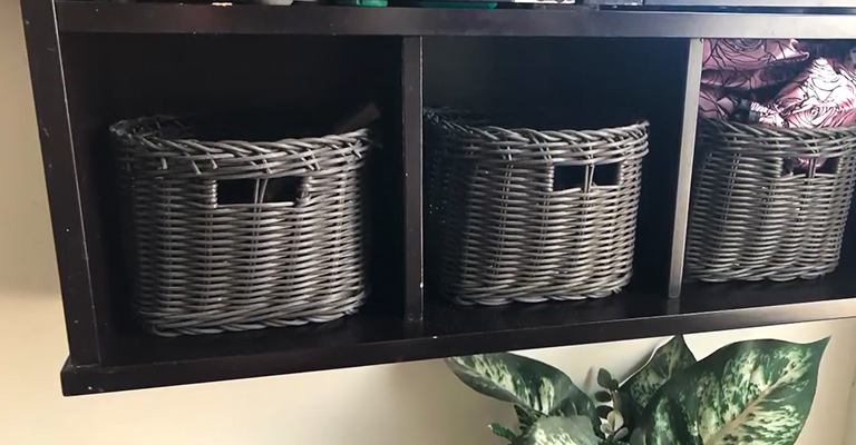 Installing Small Wicker Baskets