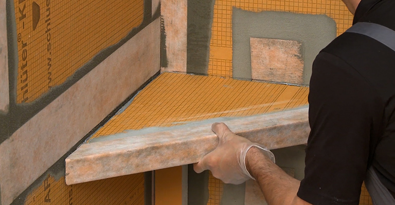 Installing a Corner Floating KERDI Bench